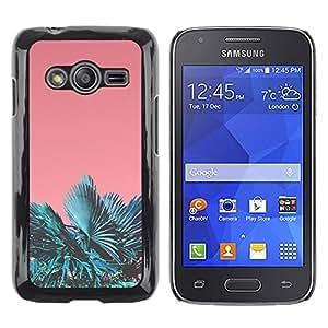 rígido protector delgado Shell Prima Delgada Casa Carcasa Funda Case Bandera Cover Armor para Samsung Galaxy Ace 4 G313 SM-G313F -Miami Tropics Teal Peach Summer Sun-