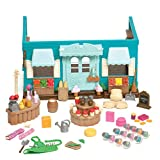Li'l Woodzeez Honeysuckle Hollow General Store 90 Piece Interactive Playset for Ages 3 and Up