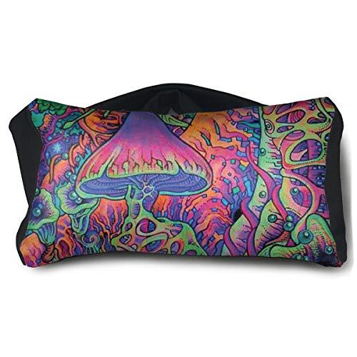 ROCKSKY Trippy Smoke Magic Mushrooms Eye Mask Pillow