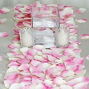 BalsaCircle 2000 Silk Artificial Rose Petals Wedding Ceremony Flower Scatter Tables Decorations Bulk Supplies Wholesale 17
