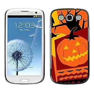 Samsung Galaxy S3 - Metal de aluminio y de plástico duro Caja del teléfono - Negro - Halloween Pumpkin Collage
