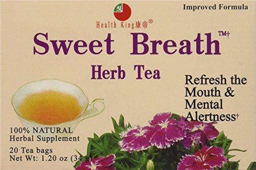 (Health King Sweet Breath Herb Tea, Teabags, 20 Count Box)