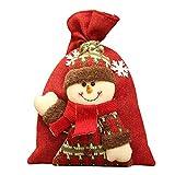 Sunliy 1Pcs Snowman Shape Bag Storage Bag Candy Bag 2028CM Red