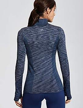 Women's 12 Zip Sweatshirt   Long Sleeve with Thumbholes