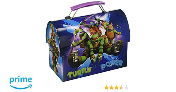 4919a4318992 TMNT 63227MZ Kids Ninja Turtles Utility Tin with Latch & plastic Handle
