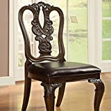 247SHOPATHOME IDF-3319W-SC Dining-Chairs, Cherry Review