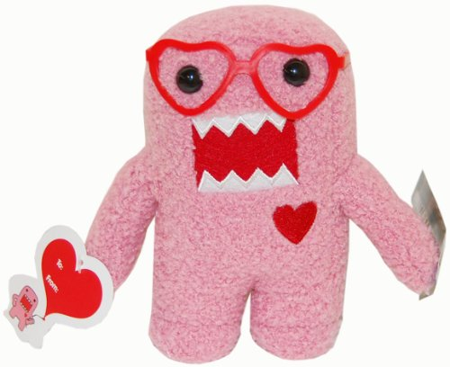 "Licensed 2 Play Domo 6 1/2"" Plush with Heart Glasses, Pink"
