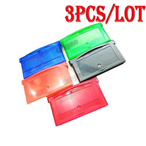 3pcs/lot Hot Sale Multi-Color Replacement For GBA Gameboy Advance Cartridge Housing Game Card Shell Case With Screws ()