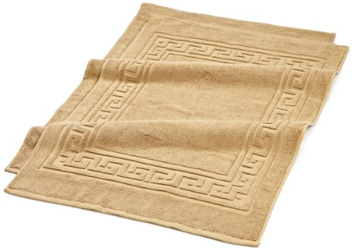 Superior Hotel & Spa Quality Bath Mat Set of 2, Made of 100% Premium Long-Staple Combed Cotton, Durable and Washable Bathroom Mat 2-Pack - Toast, 22 x 35 each
