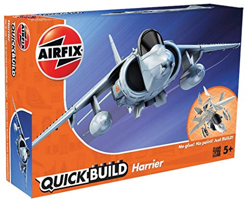 Airfix Quickbuild Harrier Plastic Model Kit ()