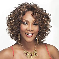 CHILLI-V (Vivica A. Fox) - Synthetic Lace Front Wig in DARK BROWN(Color 4) by Vivica A. Fox