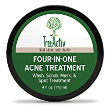 Eliminate stubborn acne and frustrating skin blemishes gently, quickly, and naturally with our Four-in-One Acne Treatment. TreeActiv Four-in-One Acne Treatment can be used as a dry scrub, daily cleanser, spot treatment, or mask to effe...