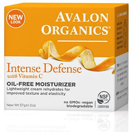 Avalon Organics Intense Defense with Vitamin C, Oil-Free Moisturizer, 2 Ounce (Pack of - Facial C Serum Vitamin Vitality Avalon Organics
