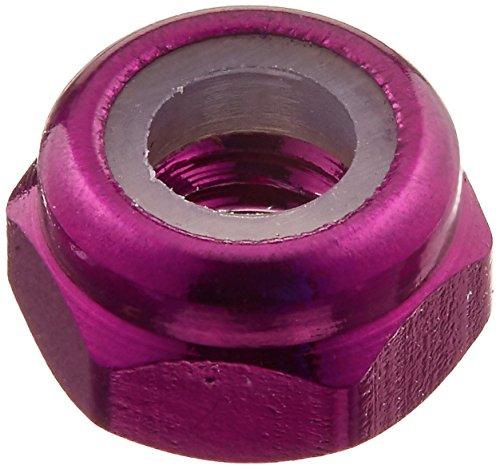 DuraTrax Aluminum Thin Locknut M3 Purple (5) (Duratrax Locknut)