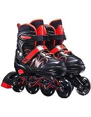 SKLOER Inline skates voor heren en dames, verstelbare inlineskates, maat 26-42, uniseks fitnessschaatsen voor volwassenen, wielerschoenen, rolschoenen voor jongens en meisjes