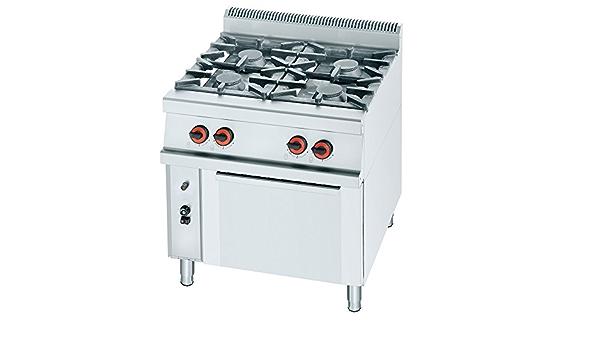 Macfrin R4H Cocina a Gas de 4 Fuegos y Horno 31 Kw: Amazon.es ...