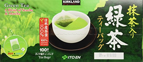 Kirkland Signature Ito En Matcha Blend (Green Tea), 100% Japanese Green Tea 100 count (Pack of 2) by Kirkland Signature
