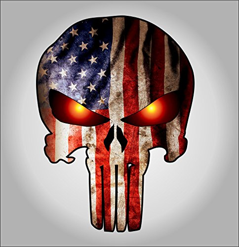 Punisher American Glowing sticker decal