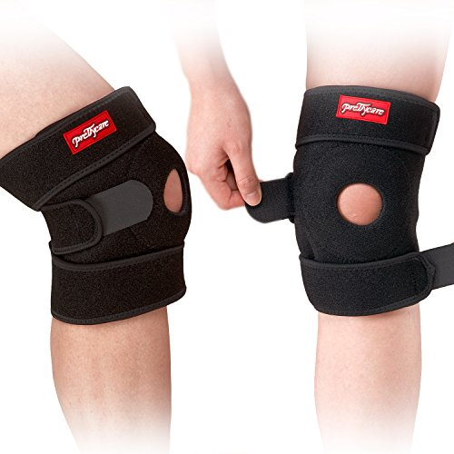 PrettyCare Knee Brace Support ( Soft and Lightweight with 2 Pack ) Adjustable Open Patella Braces Protector & Knee Cap Band Stabilizer For Arthritis, Meniscus Tear, Basketball, Exercise, Running (Heated Bicycle Seat)