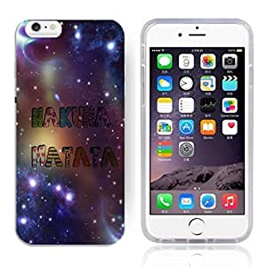 """Africa Ancient Proverb HAKUNA MATATA Color Accelerating Universe Star Design Pattern HD Durable Hard Plastic Case Cover for iPhone 6 Plus(5.5"""")"""