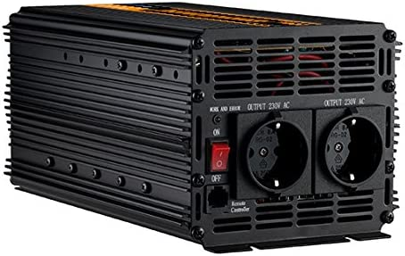 inversor 24v 220v convertidor 2000w y pico de 4000w transformador 24v a 230v de onda sinusoidal modificada con mando a distancia