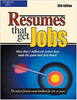 Resumes That Get Jobs Peterson S 9780768908695 Amazon Com Books