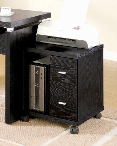Coaster Drawer Computer Stand Black