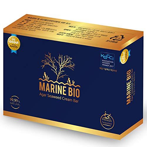 Premium Agar Seaweed Marine Bio Spirulina Gift Natural Hair loss Dandruff Deodorant Body Odor face wash skin trouble Acne, Eczema, Atopy, Antibacterial All In One cleanse Solid Shampoo Cream Bar Soap