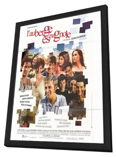 L' Auberge Espagnole 11 x 17 Movie Poster - French Style A - in Deluxe Wood Frame