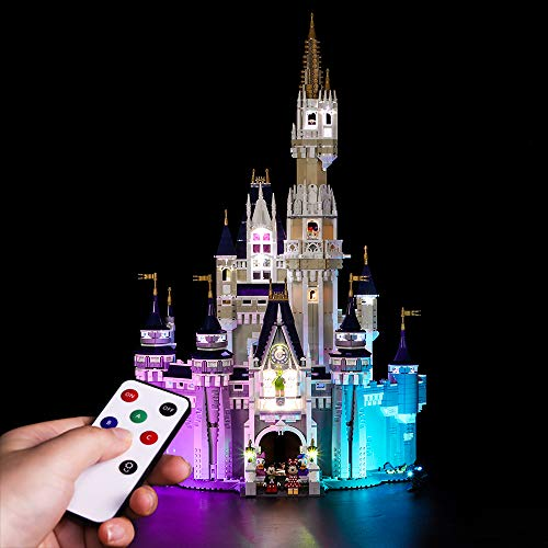 Vonado Led Lighting Kit for Lego 71040 Creative City Cinderella Princess Castle Compatible 16008 Building Blocks Toys Gift to Girlfriend Brother and Sister,Halloween,Christmas(Only Lights) -