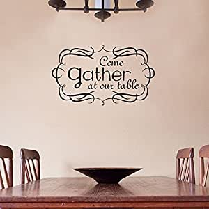 Wall decal decor family dining room decor come for Dining room wall art amazon