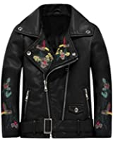 THE TWINS DREAM Girls Leather Jacket Motorcycle For Kids Baby Faux Leather Jacket For Boys Black Coat 3-12y