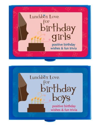 Lunch Box Stationery - Lunchbox Love Notes for Birthday Girls & Boys by Say Please. Positive, feel-good notes and fun trivia for all the special birthdays.