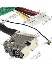 HP p/n: 799750-Y23 DC Power Jack, Conector de Alimentación, Enchufe, Conector de puerto con el cable