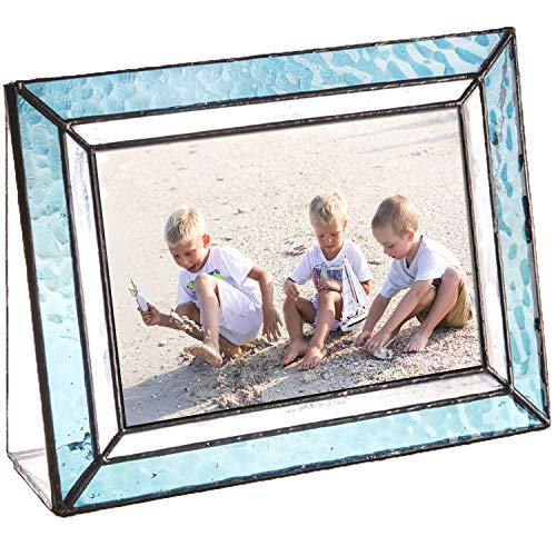 Blue Picture Frames Horizontal 4x6 Photo Table Top Beach Coastal Cottage Turquoise Home Décor J Devlin Pic 401-46H