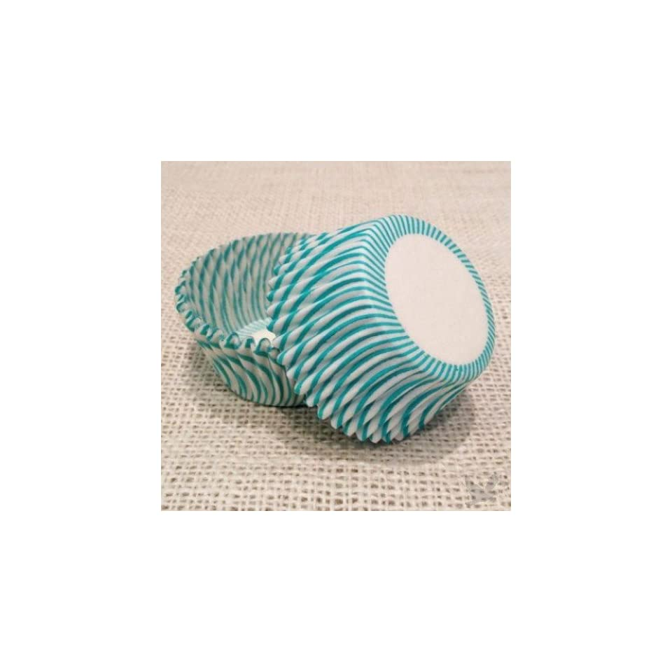 Dress My Cupcake Standard Pisa Turquoise Cupcake Liners BULK   500 Liners   Wedding Cupcakes, Wrappers, Baking Cups