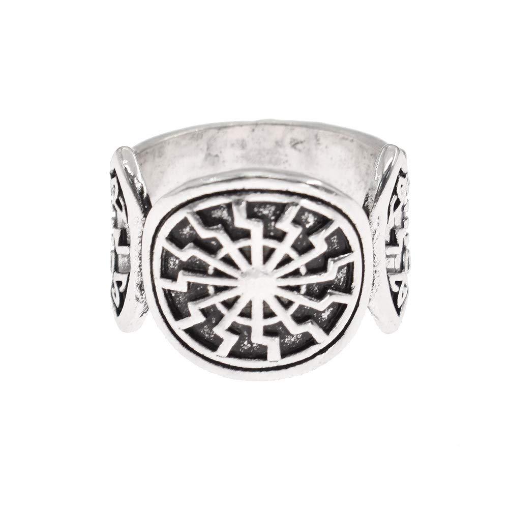 Hongma Uomo Anello Vikings Vintage Anello Unisex Runa Simbolo Elegante Gioielli Jewelry Regalo