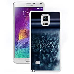 Fashionable Custom Designed Samsung Galaxy Note 4 N910A N910T N910P N910V N910R4 Phone Case With Macro Water Drops Blue Surface_White Phone Case