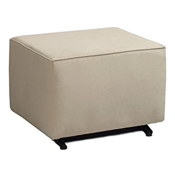 KACY Collection Preston Ottoman   Crushed Ivory By Little Castle Furniture