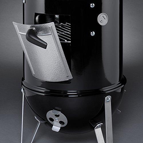 Weber 711001 Smokey Mountain Cooker 14-Inch Charcoal Smoker, Black