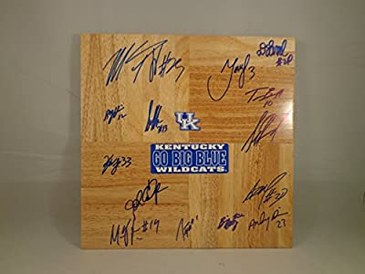 Kentucky UK Wildcats 2011-2012 Champions Team Signed 12x12 Wooden Board w/ COA