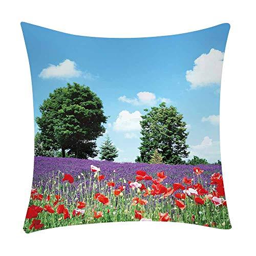 Pgojuni Fresh Style Scenery Printing Pillowcase Fashion Pillow Case Polyester Sofa Car Cushion Cover Home Decor Cover Pillow Case1pc (45cm X 45cm) (A) by Pgojuni_Pillowcases (Image #2)