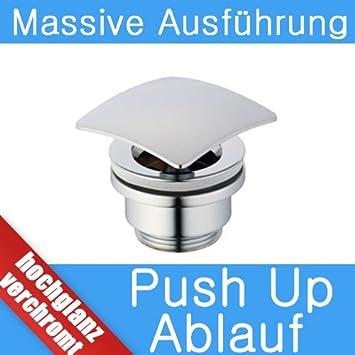 Waschbecken design eckig  IBADO Universal Ablaufgarnitur Pop up Ventil für Waschtisch ...