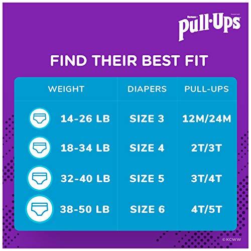 Pull-Ups Boys' Potty Training Pants Training Underwear Size 4, 2T-3T, 74 Ct