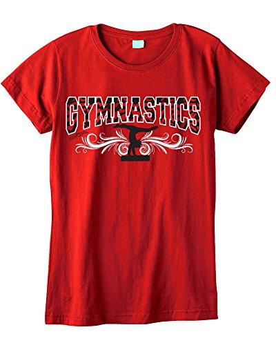 Sports Katz Big Girls 'Zebra' GYMNASTICS Fashion T-Shirt