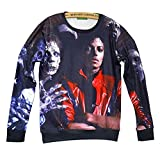 Unisex Hipster Michael Jackson Skull Swag 3D Sweatshirt Hoodies Pullovers (L)