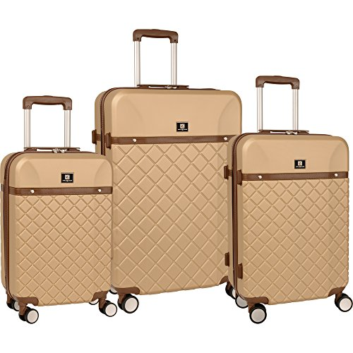 Anne Klein Anne Klein Greenwich Three Piece Hardside Luggage Set, Semolina