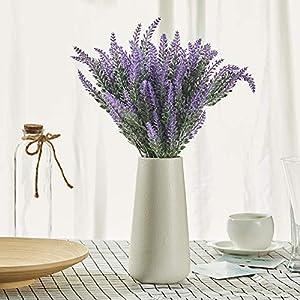 Fanber Artificial Flowers Lavender Bouquet in Purple Artificial Plant for Home Decor, Wedding,Office,Garden,Patio Decoration,8 Bundles ... 10