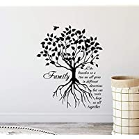 Atopdecals Vinyl Stickers Family Like Branches On A Tree Wall Decal Sign Inspirational Quote Gift Poster Vinyl Sticker Bedroom Family Decor Home Wall MZ1394