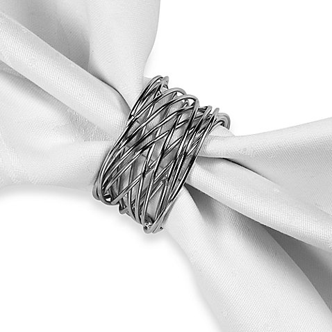 Twisted Wire Napkin Ring in Silver Finish